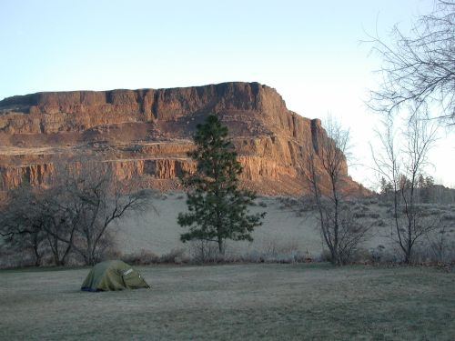 Steamboat rock at sunrise