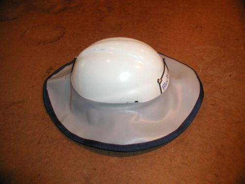 The brim comes sized to fit the smallest helmets.  Try stretching it over the helmet.  This photo shows the need to enlarge the opening. A good fit would leave about 1/4 to 1/3 of an inch up the sides of the helmet to provide a good seal to the brim stays in place in wind and cold temperatures.