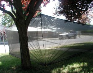 10x14 Tarp with 4 ft netting sides.